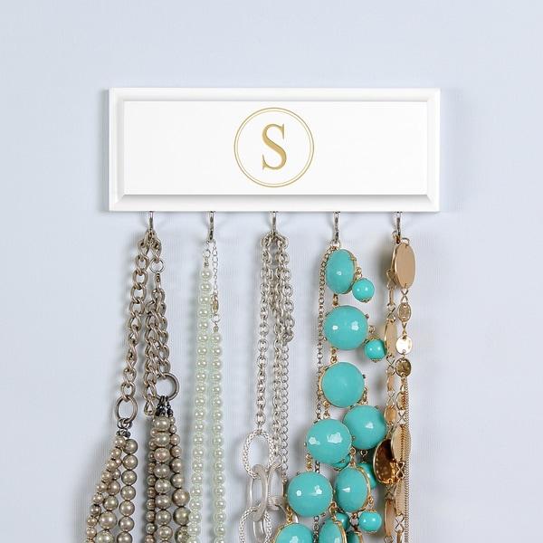 White Custom Necklace Holder