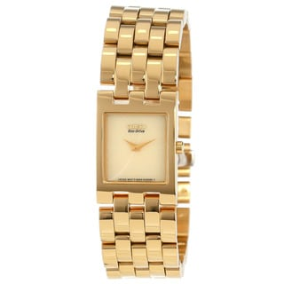 Citizen Women's EX1302-56P 'Jolie' Goldtone Stainless Steel Watch