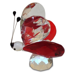 Crystal Florida Small Red Butterfly Figurine
