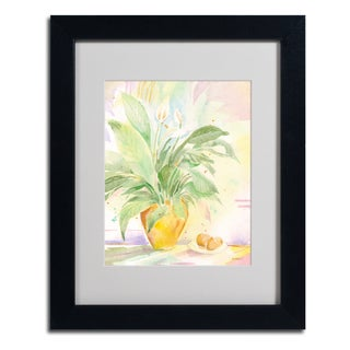 Sheila Golden 'The Peace Lily' Framed Matted Art