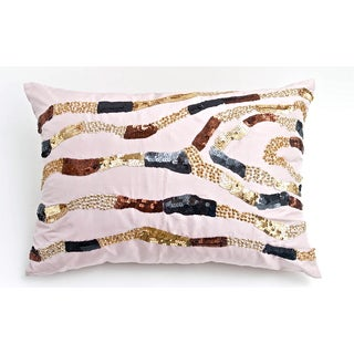 Bling Collection Dupioni Silk Down Fill Decorative Pillow