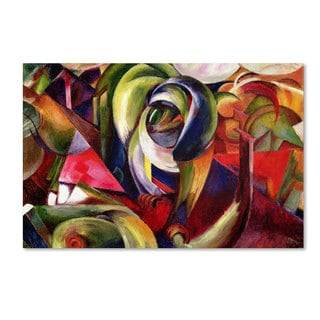 Franz Marc 'Mandrill 1913' Canvas Art