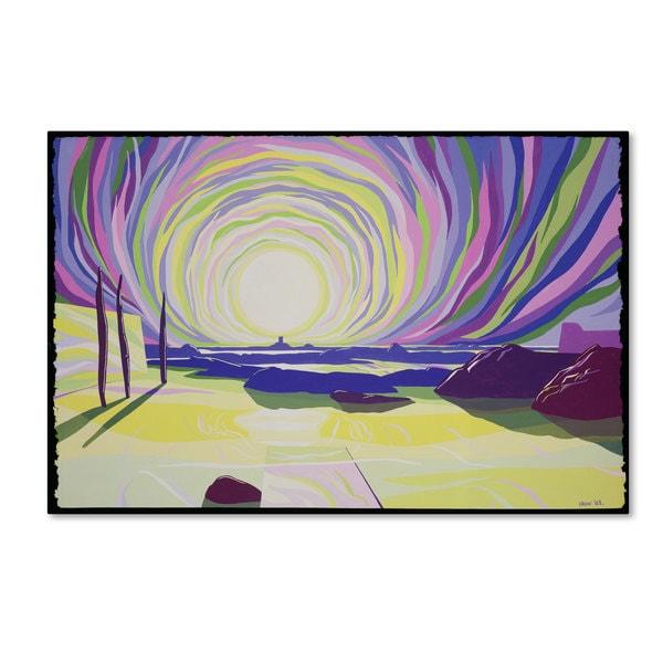 Derek Crow 'Whirling Sunrise La Rocque 2003' Canvas Art