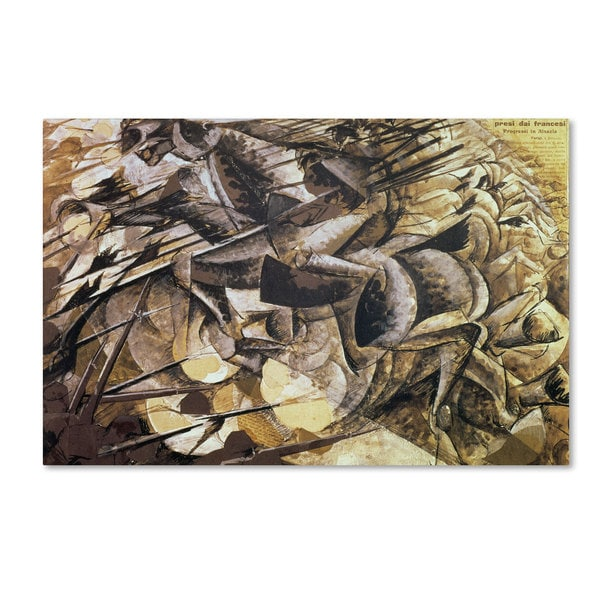 Umberto Boccioni 'The Charge of the Lancers 1915' Canvas Art