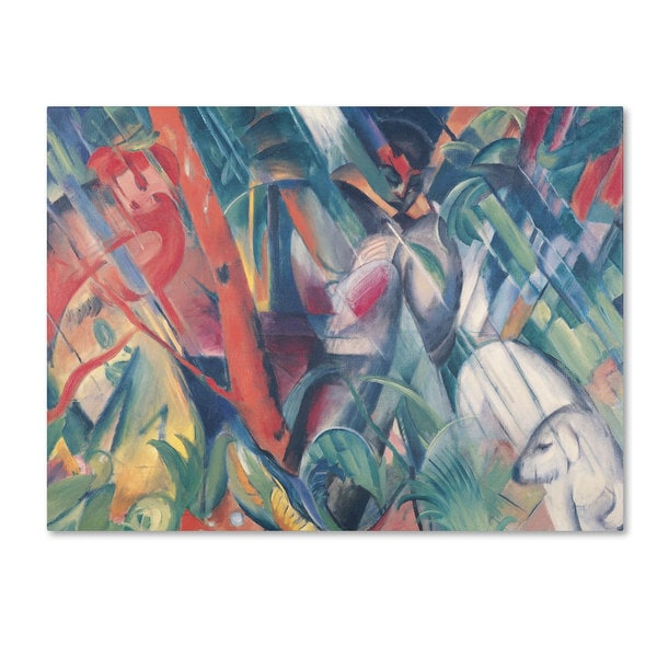 Franz Marc 'In the Rain 1912' Canvas Art