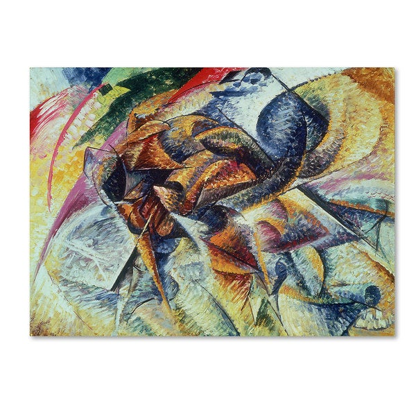 Umberto Boccioni 'Dynamism of a Cyclist 1913' Canvas Art