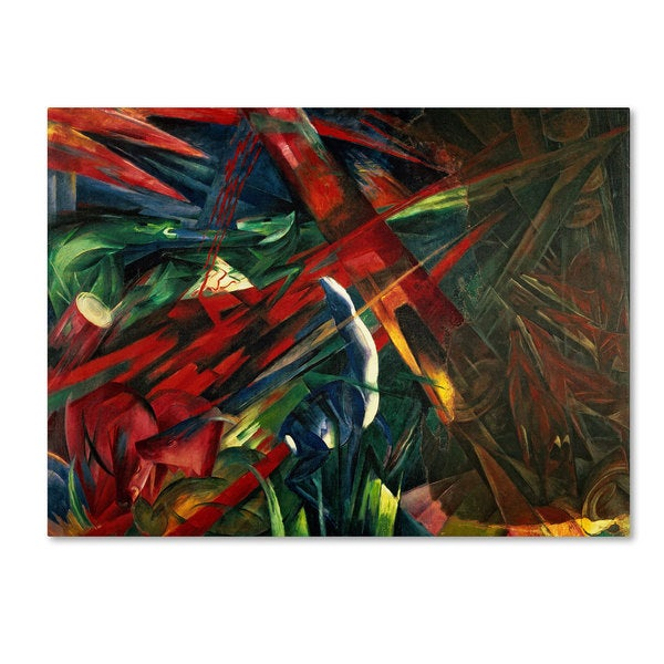 Franz Marc 'Fate of the Animals 1913' Canvas Art
