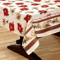 Traditional Christmas Textured Polyester Print Tablecloth