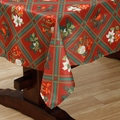Artistic Christmas Textured Polyester Print Tablecloth