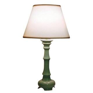 Light Blue Tripod Column Ceramic Table Lamp