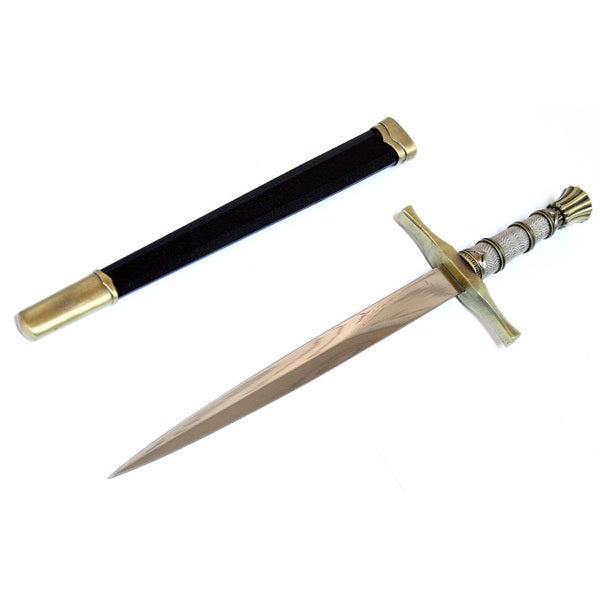 "Fantasy Style Dagger 15.5"" Stainless Steel Collectible Short Sword"