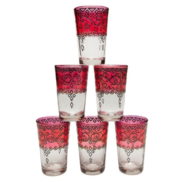 Tangier Red Tea Glasses (Morocco)