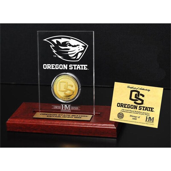 Oregon State University Gold Coin Etched Acrylic