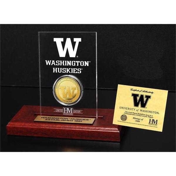 University of Washington Gold Coin Etched Acrylic