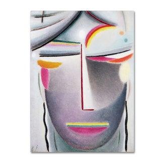 Alexej von Jawlensky 'Head (Dark Buddha) 1927' Canvas Art