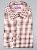 Lorenzo Uomo Check Print Trim Fit Button Down Dress Shirt