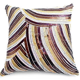 Bling Collection Decorative Feather Filled Throw Pillow