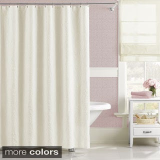 Luxury Floral Matelasse Majestic Shower Curtain