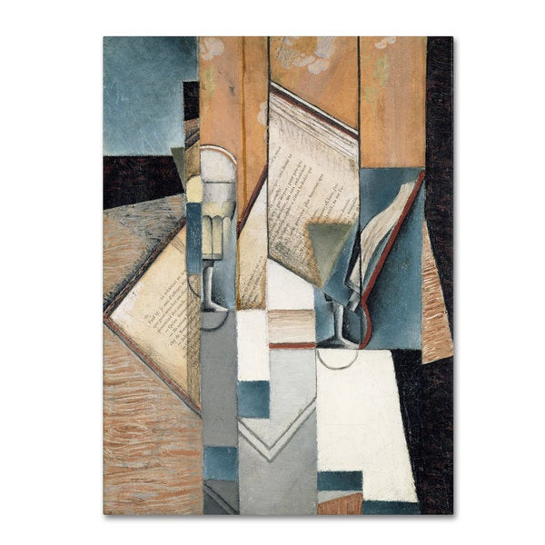 Juan Gris 'The Book 1913' Canvas Art