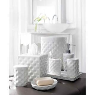 Classic White Porcelain Bath Accessory Collection
