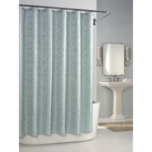 Versaille Cameo Blue Shower Curtain