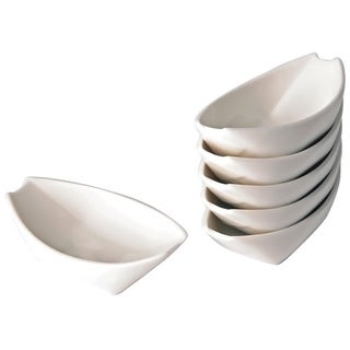 Whisper White Dipping Boat (Set of 6)