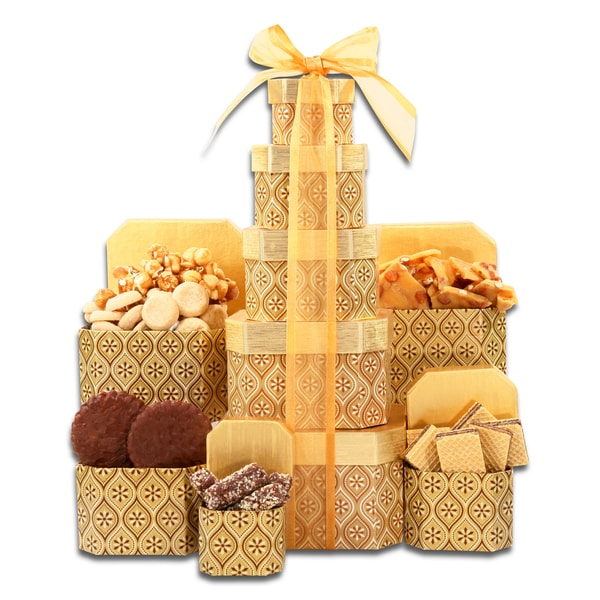Alder Creek Gift Basket Golden Decadence Tower