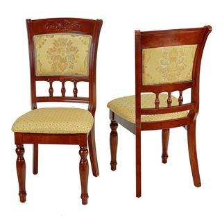 Cortesi Home Winthrop Gold Queen Anne Dining Chair (Set of 2)