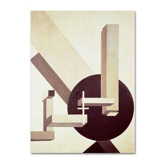 Eliezer Lissitzky 'Proun 10 1910' Canvas Art