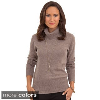Italian Made Luigi Baldo Women's Italian Cashmere Turtle Neck Sweater