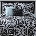 Kennedy 5-piece Reversible Black Comforter Set