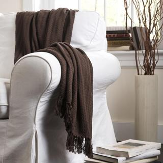 Lush Decor Pamel Brown Throw Blanket