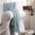 Lush Decor Pamel Blue Throw Blanket