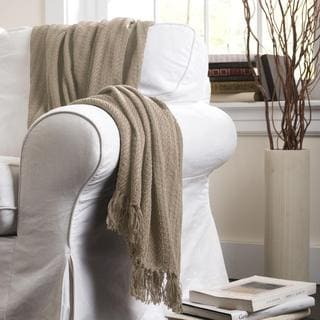Lush Decor Pamel Taupe Throw Blanket
