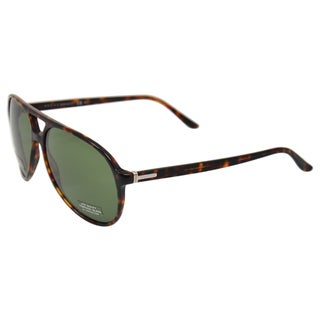 Gucci Unisex Dark Havana/ Green Sunglasses