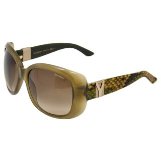 YSL Women's Military Green Python Sunglasses