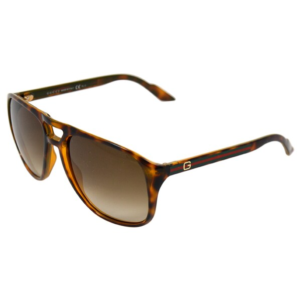 Gucci Women's Tortoiseshell Aviator Sunglasses