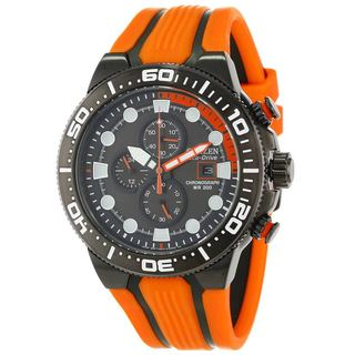 Citizen Men's CA0517-07E Scuba Fin Orange/ Black Rubber Watch