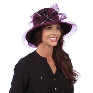 Swan Women's Dressy Chenille Ribbon Hat-Dark Purple
