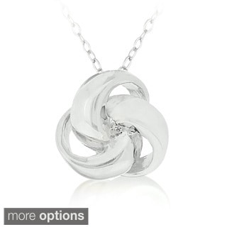 Mondevio Sterling Silver or Gold Overlay Love Knot Necklace
