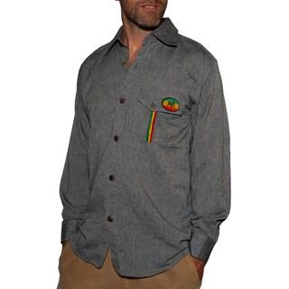 Men's Rasta Patch Jah Army Shirt (Nepal)