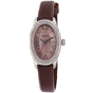 Nixon Women's 'Scarlet' Stainless Steel Leather Strap Watch