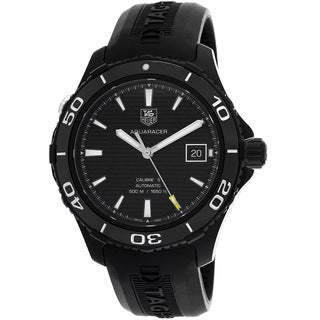 Tag Heuer Men's WAK2180.FT6027 Automatic Textured Black Watch