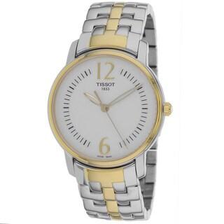 Tissot Women's T0522102203700 Round Trend Silvertone PVD Watch