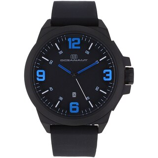 Oceanaut Men's OC7111 Black Pilot Watch with Blue Luminous Hands