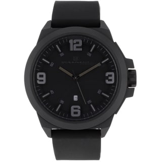 Oceanaut Men's OC7116 Black Pilot Watch with Black Luminous Hands
