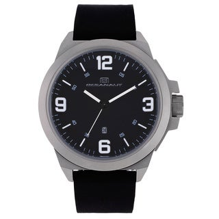 Oceanaut Men's OC7117 Black Pilot Watch with White Luminous Hands
