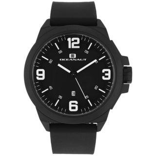 Oceanaut Men's OC7119 Black Pilot Watch with White Luminous Hands