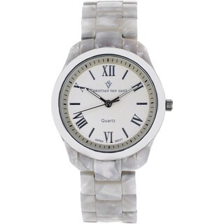 Christian Van Sant Women's 'Fluer' Silver Dial Watch