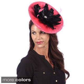 Swan Women's Sinamay Covered Velvet Fascinator with Feathers